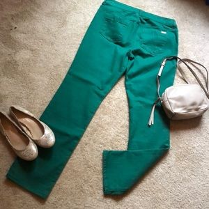 Chico's So Slimming green Jean size 10